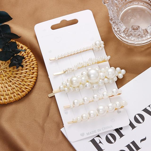 Goddess Pearl Hair Clips Multi Pack + FREE Gift Bag Whitecrate Exclusive