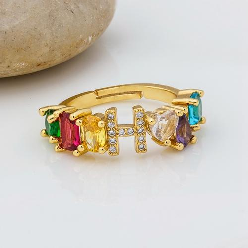 Goddess Rainbow Letter Ring - Fully Adjustable Whitecrate Exclusive