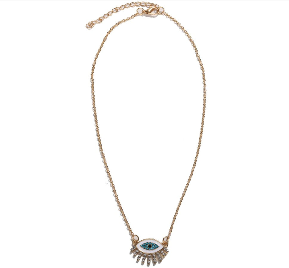 Lucky Eye Crystal Necklace Whitecrate Shop