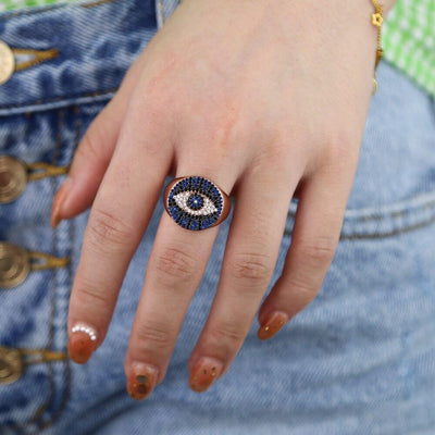 Lucky Eye Rose Gold Ring Whitecrate Exclusive
