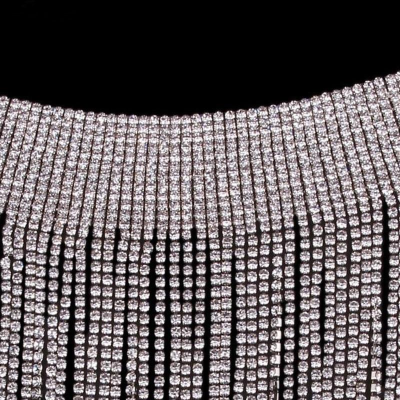 Rhinestone Goddess Collar Necklace Whitecrate Shop