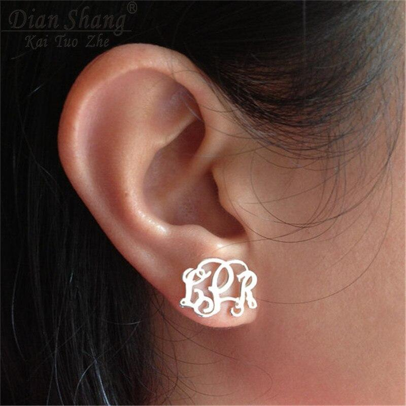 Special Monogram Stud Earrings Whitecrate Shop