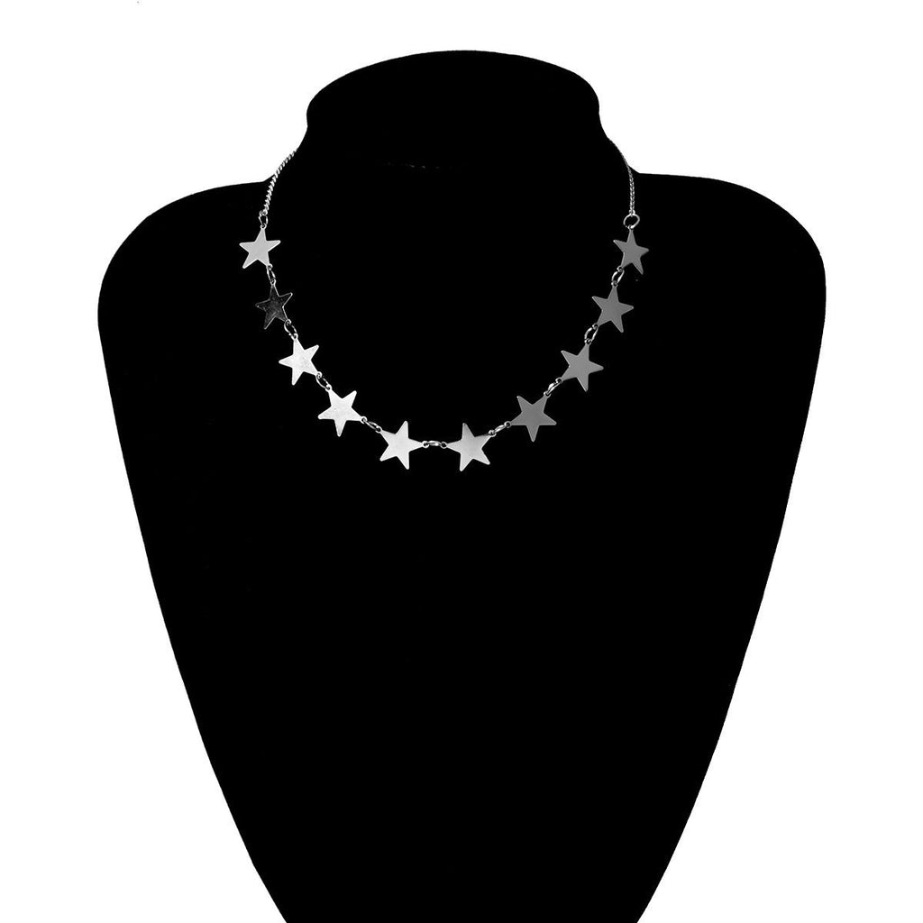 Star-Heart & Love Letter Choker Set Whitecrate Exclusive