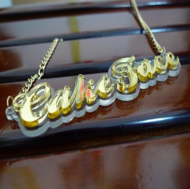 Super Acrylic Custom Name Necklaces Whitecrate Shop