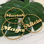 Twisted Custom Name Hoops Whitecrate Exclusive