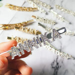 Load image into Gallery viewer, Sparkling Custom Rhinestone Hair Clip