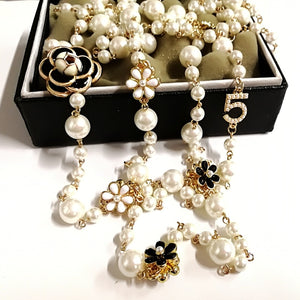 Long Pearl Necklace for Women No.5
