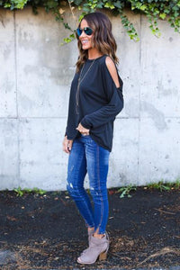 Backless Long Sleeve T-Shirts