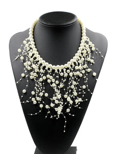 Pearl Tassels Elegant Necklace