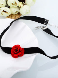 Velvet Rose Choker Necklace