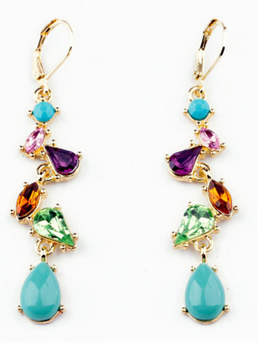 Colorful Rhinestone Drop Earrings