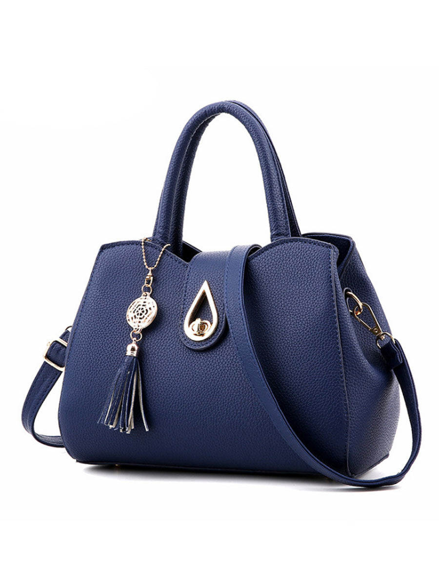Drop And Snow Tassel Pu Shoulder Bag