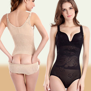 Sexy Breathable Jacquard One Piece Elastic Thin Buttock Shapewear