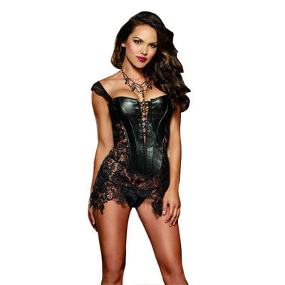 Leather&Lace Steampunk Corset Dress
