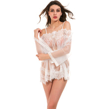 Mature Women Sexy Lingerie White Lace Wear Sleepwear