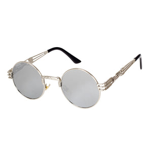 Gothic Steampunk Sunglasses Men Women Metal Wrapeyeglasses Round Shades