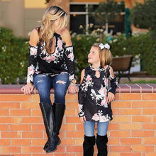 Printed Strapless T-Shirt Jacket Mother And Daughter