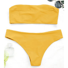 Pure Color Sexy Bikini Swimsuit