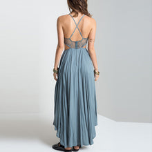 Bohemian Pierced Sexy Halter Vacation Long Dress