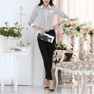Black And White Vertical Stripes T-Shirt
