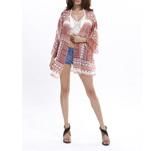 Beach Chiffon Vacation Blouse