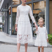 Lace Dress Hollow Dress Mother And Daughter
