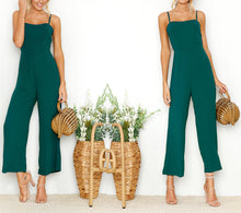 Solid Color Sexy Strap Jumpsuit
