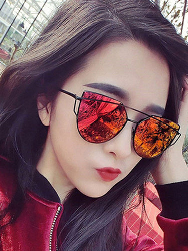 Plain Colorful Fashion Women Sunglasses
