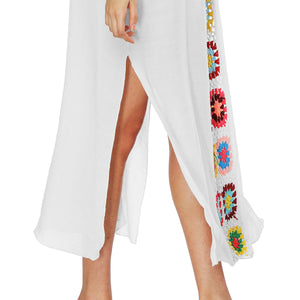 Cotton Cloth Stitching Hand Hook Non-positional Printing  Long Skirt
