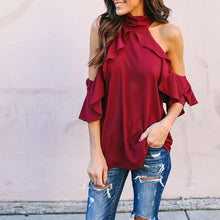 A   Lotus Leaf Loose Chiffon Shirt