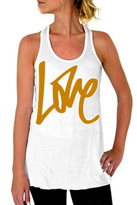 Round Neck  Letters  Vests