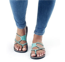 Braided Flat Heel Holiday Sandals