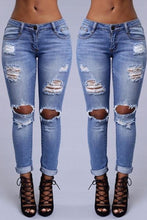 Long  Fitted  Denim  Plain  Basic   Jeans