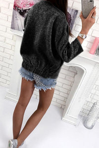 Basic Autumn Polyester Plain Cardigans