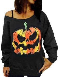 Halloween One Word Led Leakage Shoulder Fleece