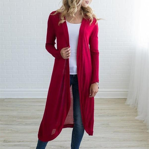 Long Style Knit Cardigan