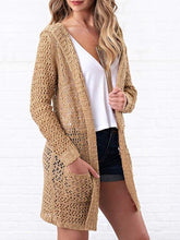 Snap Front  Plain Casual  Cardigans