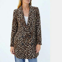 Leopard Printed Double Breasted Blazer