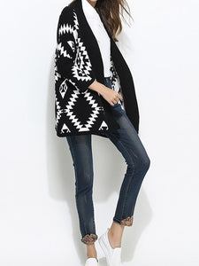 Collarless  Bohemian Knitwear