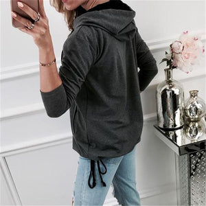 Long Sleeve Hooded Cardigan Coat