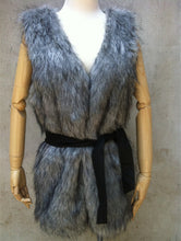 Faux Fur V-Neck  Plain Vest