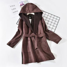 Hooded Patch Pocket Woolen  Block Coat