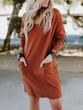 Fashion Round Neck Long Sleeve Wid-Length Shirt