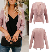 Lapel Long Sleeve Plain Casual Cardigans