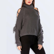 High-Necked Sexy Strapless Sweater