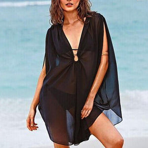 Sexy Deep V-Neck Sleeveless Cover Ups