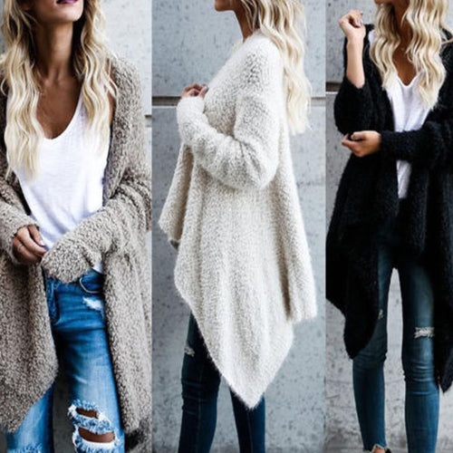 Irregular Two-Sided Knit Cardigan