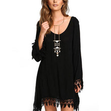 Bohemia Loose Tassel Irregular Chiffon Beach Vacation Dress