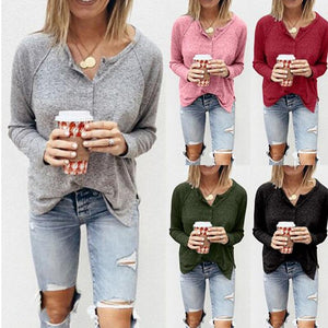 Fashion Long Sleeve Slim Fit Casual Sexy Top