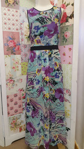 Floral Chiffon Dress BU018